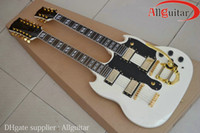 Solid Body 12 strings basswood Double Neck 12 Strings Guitar White 1275 Electric Guitar China Guitar