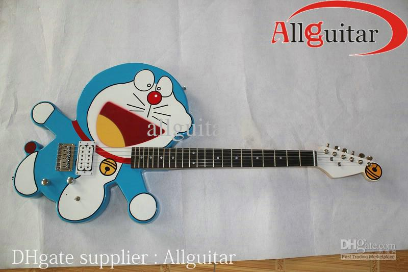 Brand New Doraemon Blue Electric Guitar For Beginner u0026 Kids New Arrival China Guitar Electric ...