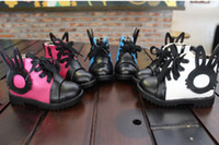 Unisex Spring / Autumn Cotton 10%off!2013 PU boots, high waist rabbit ears toddler shoes,kids casual baby shoes,26-30 yards cheap shoes sale,baby wear! 8pairs 16pcs!TP
