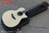 Wholesale 916CE Natural Wood Ebony fretboard Special Pickups AAA Solid Spruce Abalone Body Acoustic Electric Guitar