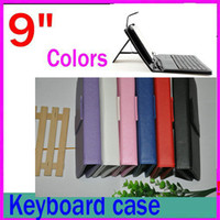 "Keyboard Case 9 inch other 100pcs Hot Selling Universal 9 Inch Leather Keyboard Case Cover For 9"" Tablet PC MID with different color JP09-1"