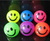 Wholesale Smile flashing ball TPR rubber luminous ball creative boring toy stall selling manufacturers novelty toys l d