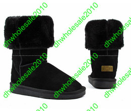Wholesale 2013 Xmas gift pairs Women s snow Winter UGcc boot Classic Tall short baily button boots xve008