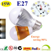 Wholesale 50X E27 E14 GU10 B22 High Power Energy Saving W x w Globe light LED Light Led Bulb lamp free shiipping
