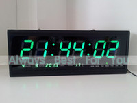 Wholesale Desk Table Clocks Large LED Digital Wall Calendar Clock DHL Fast Shipping