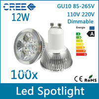 Wholesale 100pcs Factory price High Power GU10 M16 E27 GU5 V V V W dimmable LED lighting Spotlight led bulbs led lamp led