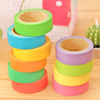 Wholesale Dia mm Length m Candy Color Shredded Masking Tapes DIY Decorative Washi Tapes and Stickers SH001