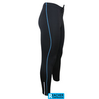 Wholesale compression running Fitness Excercise cycling Clothing wear tights zip pants jersey AR115 blue stripe
