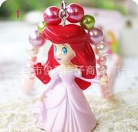 Wholesale Children Accessroies Jewelry Girl Necklace Plastic Necklace Cartoon princess Character Necklace Mix colours
