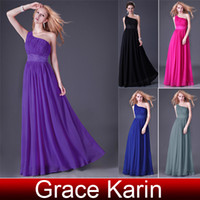 Wholesale pc Grace Karin Long Shining Beaded Prom and Formal Evening Dress With Sequins Purple Black Blue CL4107