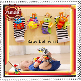 Wholesale 4 pieces wrist ringing bell Socks with bell babys best friends baby bell rattle lovely gifts