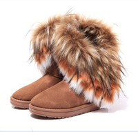 Wholesale Cheap Leather Shorts Women - Cheap price women's snow boots black+brown+green super warm winter boots for women tassel short boots High quality