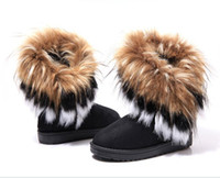 Ankle Boots Snow Boots Women Cheap price women's snow boots black+brown+green super warm winter boots for women tassel short boots High quality
