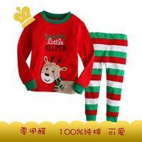 Boy Summer 2T:3T:4T:5T:6T:7T Gir's Boy 's Suit long sleeve Pajamas Suit - Baby Suit Pants + t-shirts Pyjamas Sets Christmas sleepwear