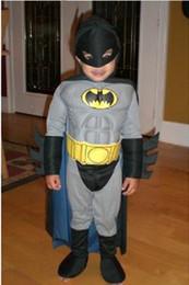 Wholesale Batman The Brave and Bold Deluxe Muscle Chest Batman Child Costume Batman Muscle clothing