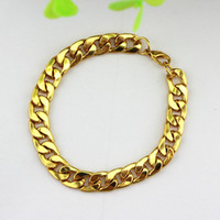 Wholesale New European Fashion Men s Bracelet K Gold Chain High Quality Men s Jewelry VB