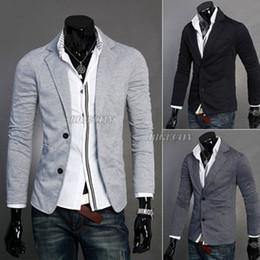 Wholesale New Mens Design Casual Two Button Knit Jackets Coat Blazer Suit
