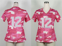 Wholesale Seahawks Womens Football Jerseys Pink Camo Fan American Football Jerseys Breathable Stitched Female Sportswear High Quality Best Gift