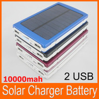 portable cell phone battery charger - full power Portable mAH Solar Battery Panel external Charger Double USB output for Laptop Cell phone mp3 mp4