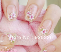 Decal flower nail - 10 Sheet Mix Flower D Nail Art Sticker Flowers Decal Water Temporary Tattoos Watermark