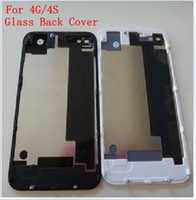 Wholesale DHL Back Glass Battery Housing Door Back Cover Replacement Part with Flash Diffuser For iPhone S