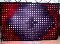 Wholesale DJ LED video Curtain LED Vision Curtain x2 meters RGB SMD LED Lamp Cloth with SD Controller