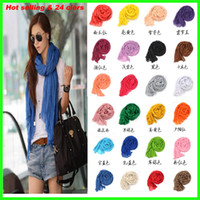 Wholesale 2013 hot selling colors multicolor fashion womens pure linen fold super long big shawl women sexy fashion punk scarf scarves wraps
