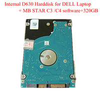 Wholesale Latest Version For DELL d630 GB HDD for Mercedes Star C4 mb star c3 Scanner Tool C3 C4 Software Free Shiping