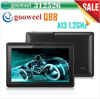 Wholesale Freeshipping Gooweel quot Allwinner A13 Q88 tablet pc android GHz RAM DDR3 MB ROM GB Camera OTG