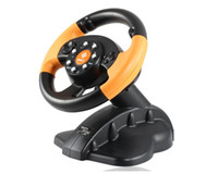 Wholesale New GameMon FT33C2 Game Console Steering Wheel with PC PS2 PS3 Port
