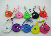 Wholesale Flat Micro USB Data Charging Cable Sync Charger Line for Samsung Galaxy S4 S3 Sony Xperia LG HTC ONE Note M ft M ft M ft DHL EMS