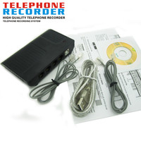 Wholesale 2 Way Office Company Computer PC USB All Telephone Calls Record Digital Voice Phone Call Recorder
