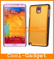 Aluminium For Samsung For Samsung Galaxy Note 3 N9000 Luxury Brushed Aluminium Hard Case CellPhone Cover Pouch Bumper for Samsung Galaxy Note 3 Note3 N9000 100pcs lot N9000C20