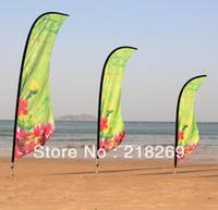 Wholesale 3 m Custom printing Beach Flag Company logo Flag Outdoor Flag Banner Display Feather flag Teardrop flag