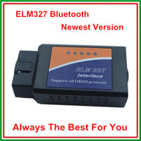 Wholesale Elm327 Bluetooth OBD II interface cable Elm327 v1 OBD2 Scanner EOBD code reader with