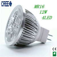 Wholesale MR16 W High Power CREE Dimmable Spotlight LED Bulb Energy saving Led Light Lamp CE RoHs Freeshiipping