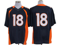 Wholesale Quarterback Peyton Manning Broncos Elite Jersey Navy Blue American Football Jerseys New Season Mens Jerseys All Team Athletic Apparel