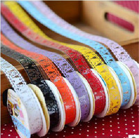 Wholesale Length m Width cm Waterproof Single Sided Color Lace Tape DIY Decorative Tapes and Stickers SH003
