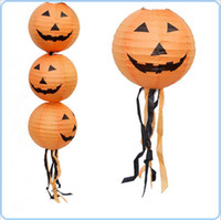 Wholesale Halloween Lantern Pumpkin Lamp Bar Scene Decoration Jack Lantern Can Hang Pumpkin Paper Lantern Halloween Supplies