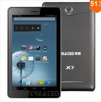 Dernières 7inch MTK8377 Tablet PC 3G dual core jelly bean android / Bluetoth / VTT / FM / deux caméras / fente pour carte dual sim 4.1 3G / GPS (X7)