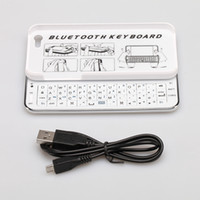 Wholesale Mini Wireless Bluetooth Slide Keyboard Case Mirco USB Port Plug Back Hard Smart Cover Cases Backlight White Shell for iPhone