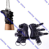 Wholesale 1pc xsextoy High quality Boot Suspension Cuffs Leather Foot Binders for Suspension Play w21