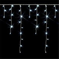 Wholesale LED Christmas Icicle Lights Strings m LED Xmas Festival Holiday Wedding Party Home Decoration Tree Light V V White Red Blue RGB