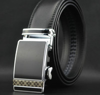 Standard Standard Genuine Leather 2013 HOT Fashion MEN'S belts Genuine Leather Waist Strap Belt Automatic Buckle Black free shipping