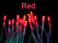 Wholesale 40 LED string MINI FAIRY LIGHTS BATTERY power OPERATED wedding party flash red color Fedex