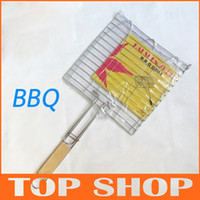 Wholesale BBQ Middle size fish clip stainless steel Outdoor cooking tool BBQ tools