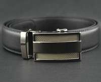 Standard Standard Genuine Leather 2013 new Fashion MEN'S belt Genuine Leather Waist Strap Belts Automatic Buckle Black free shipping