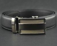 Wholesale Fashion belts for men Cowskin Belts Leather Men Belts Waist Strap Belts Automatic Buckle Black Casual Belt