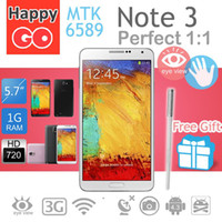 Wholesale New Arrive HLD N9000 Phone MTK6589 Quad core inch Android GB RAM MP Camera GPS G Note Note III Cell phone e5