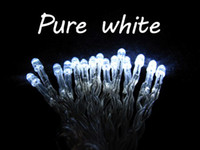 Wholesale 30 LED string MINI FAIRY LIGHTS BATTERY power OPERATED XAA Battery Christmas lights xmas wedding party flash white Fedex